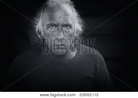 Scary Man Staring At Viewer