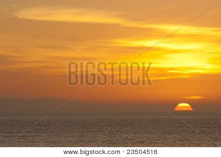 Fiery Sky Sunset