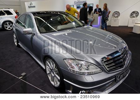 FRANKFURT - SEP 17: Mercedes Carlsson car shown at the 64th Internationale Automobil Ausstellung (IAA) on September 17, 2011 in Frankfurt, Germany.