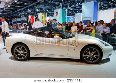 FRANKFURT - SEP 17: Ferrari FF1 sport car shown at the 64th Internationale Automobil Ausstellung (IAA) on September 17, 2011 in Frankfurt, Germany.