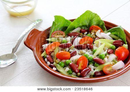 Bean & grains salad