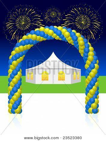White wedding or entertainment tent