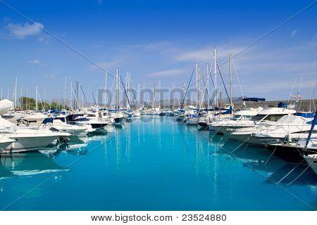 Alcudia Port Bonaire Marina in North Mallorca im Mallorca-Balearen Insel von Spanien