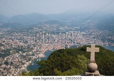 Lugano View From San Salvatore