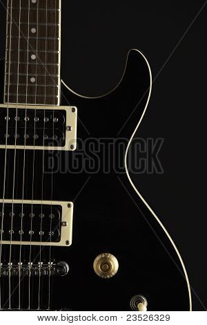 Black Electric Guitar On Black
