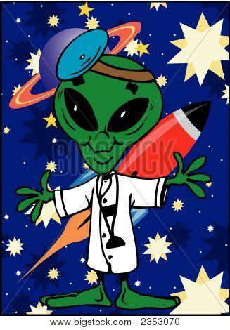 Toonimal Alien-Vector