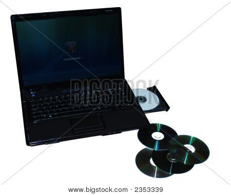 Laptop And Compact Discs
