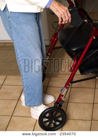 Old Lady With The Walker