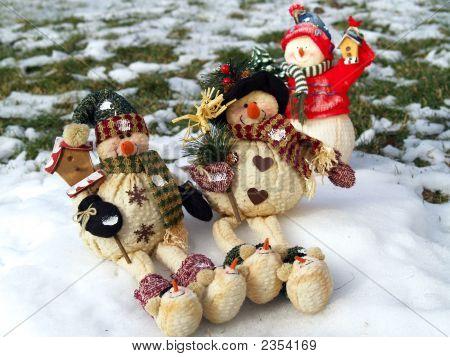 Glücklich Schnee Menschen