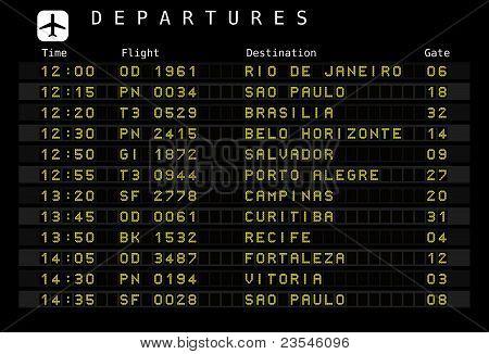 Airport schedule - Brazil