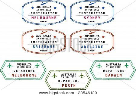 Immigratie postzegels - Australië