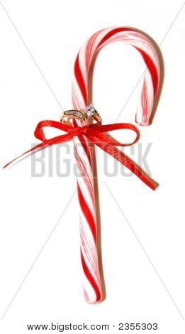 Engagement Ring Candy Cane