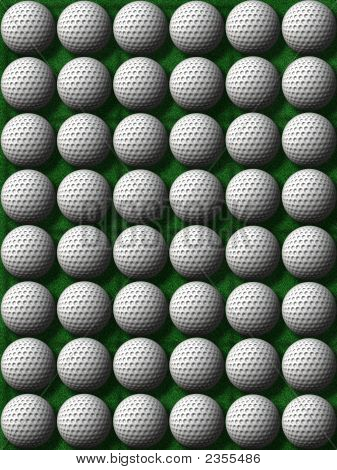 Rows Of Golf Balls