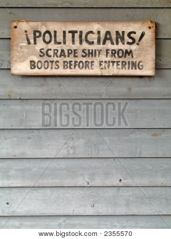 Political Old West Sign