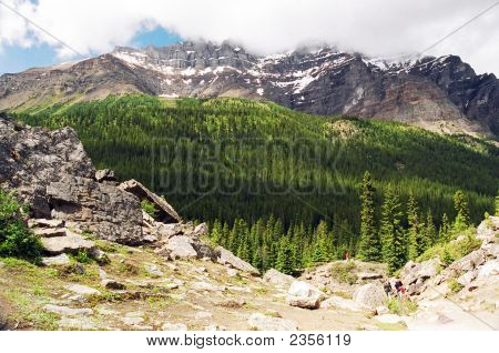 Mountain Scene Near Morraine Lake Canada