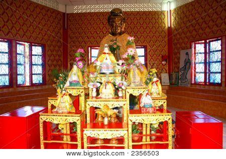 An Altar  At Dhammikarama Burmese Buddhist Temple