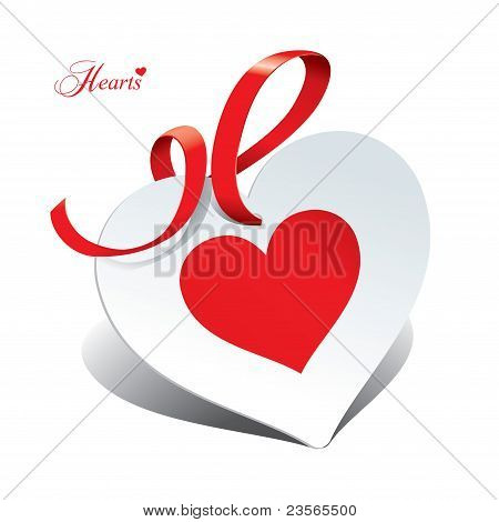 Romantic Icon In The Form Of Card For Themes Like Love, Valentine's Day, Holidays.