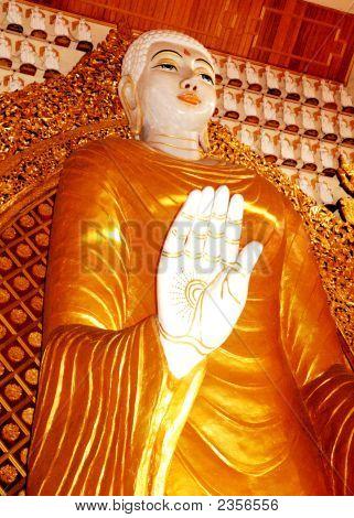 A Large Buddha At Dhammikarama Temple Malaysia