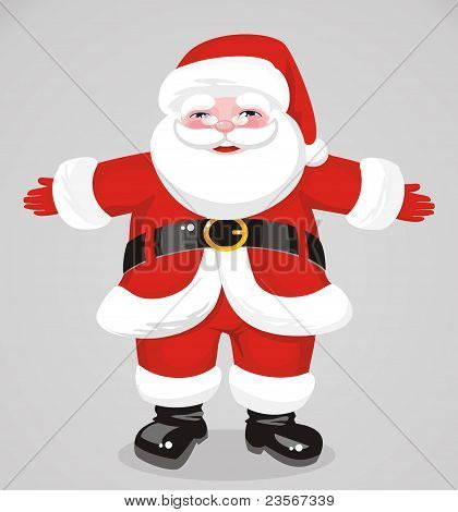 Jovial Santa Claus In Full Growth