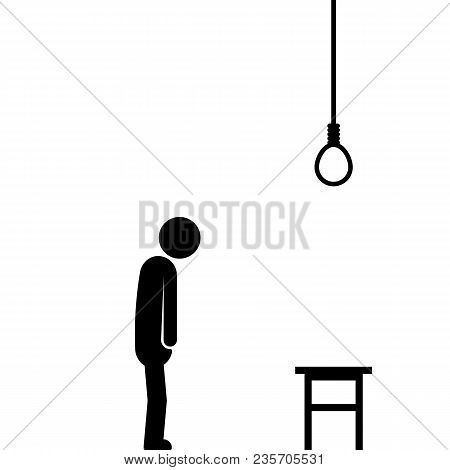 Suicide By Hanging With Stick