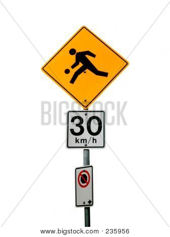 Isolated Playground Traffic Sign