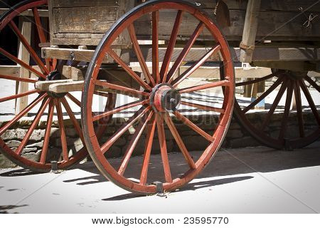 red wagon wheel
