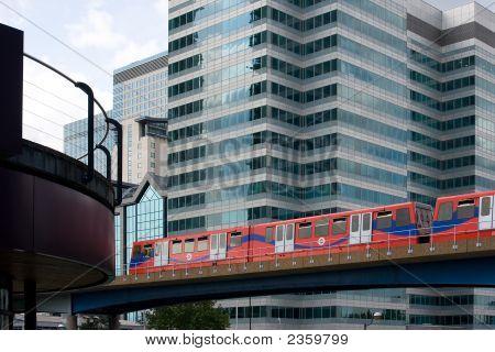 Light Railway Through City