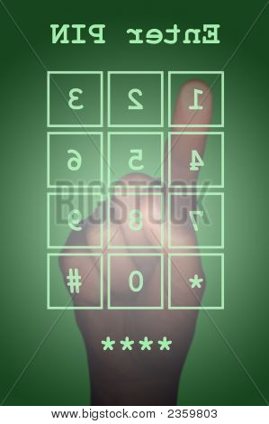 Pin Entry On A Touch Screen With Hand