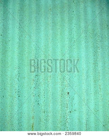 Green Corrugated Metal Background
