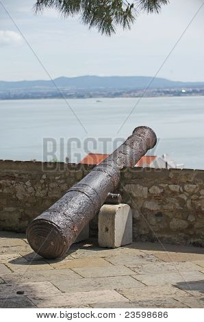 Cannon In The Fortress Of Lisboa