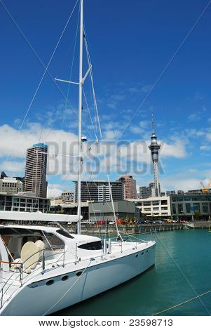 yacht at Auckland habor