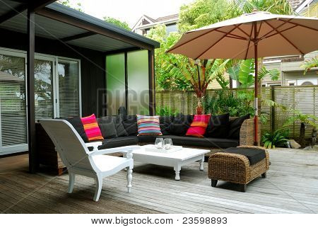 Stylish outdoor terrace