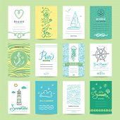 Summer Holiday, Sea Vacation, Ocean Trip Card, Wedding Flyer, Beach Party Invitation, Poster. Summer poster