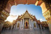 Bangkok City - Benchamabophit  Dusitvanaram Temple From Bangkok Thailand poster