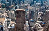 Chicago Skyline Top View With Skyscrapers, Illinois, Usa poster
