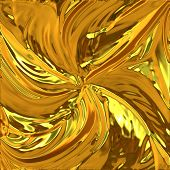 picture of gold glitter  - Computer generated illustration of shiny golden surface - JPG
