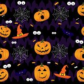 Abstract Halloween Pattern For Girls,boys, Kids, Halloween, Clothes. Creative Vector Background With poster