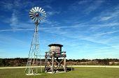 Twin Oaks Windmill / Windmill At Twins Oaks Park Near Kissimmee, Florida poster