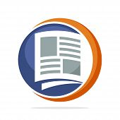 Icon Logo With The Concept Of Media Management Readings Such As Newspapers, Tabloids, Magazines poster