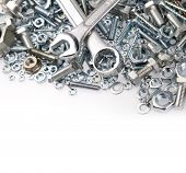 Wrenches on nuts and bolts poster