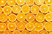Fresh Sliced Orange Fruit Texture. Macro, Top View, Copy Space, Banner. Food Frame. Juicy Oranges Ba poster