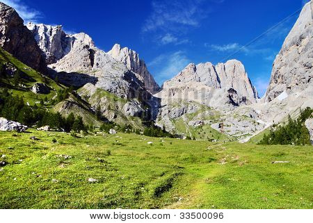 view of southern side of marmolada- top of dolomiti italy