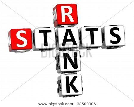 3D Rank Stats Crossword