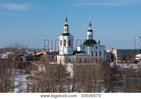 Church of the Holy Cross Exaltation in winter Tyumen