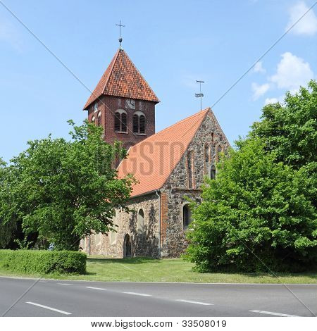 Medieval Fieldstone Church In Germany