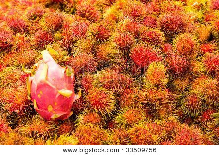 Rambutan And Dragonfruit