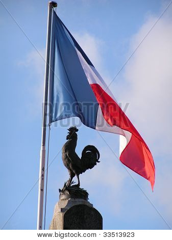 Flag and Cockerel
