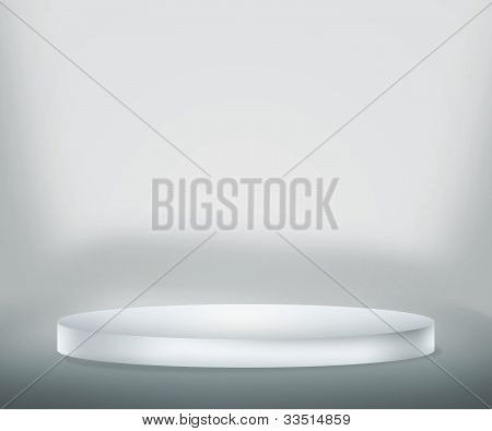 White Podium Background
