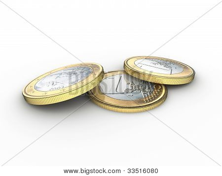 Three Euro Coins