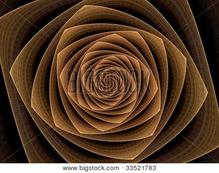 Abstract Illustration Of Golden Tunnel, Time Vortex